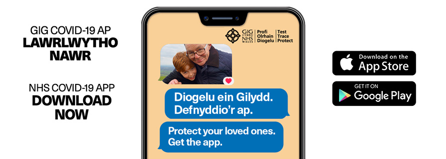NHS Covid-19 App on mobile phone