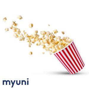 popcorn and striped tub