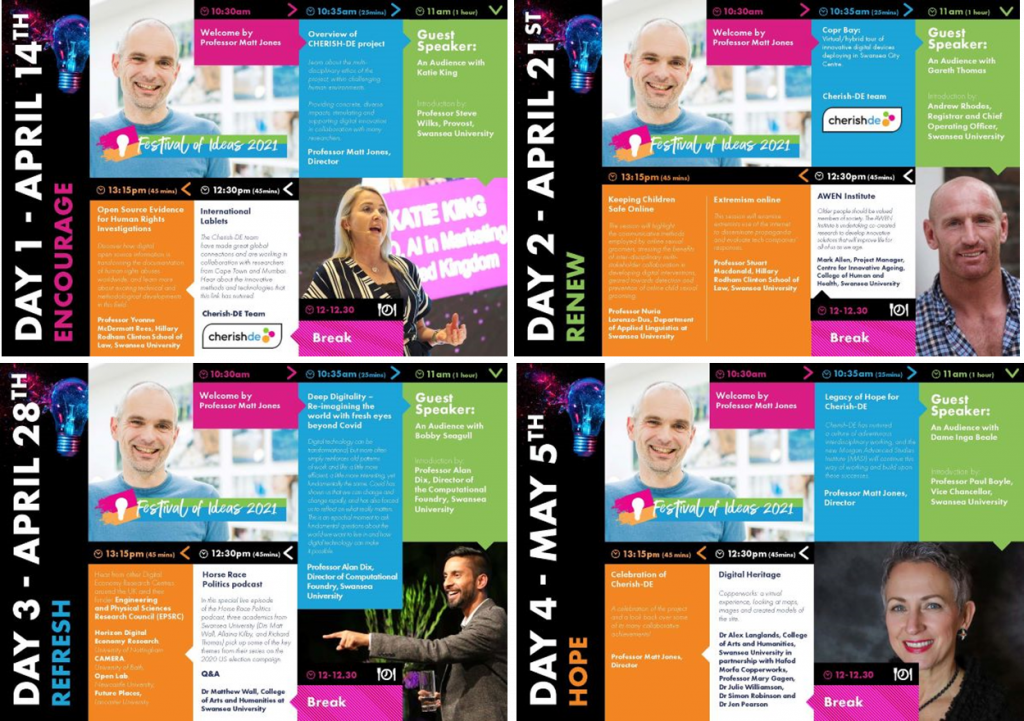 Festival of ideas schedules