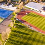 Aerial view of Swansea Bay Sports Park