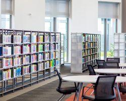 Empty Swansea University Bay Campus Library