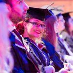 Female smiling in Graduation