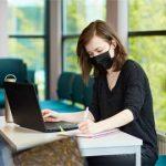 Female student on laptop